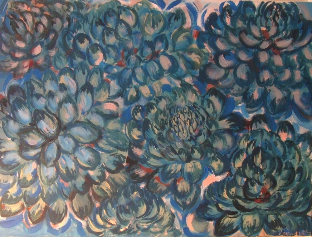 Dahlia Study in Blue (October 2013)