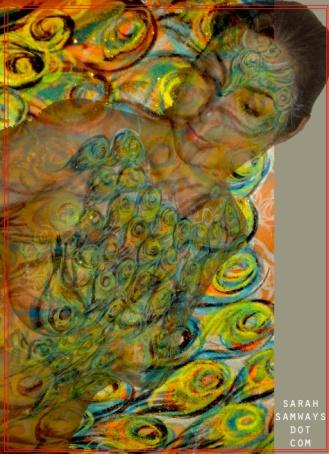 Peacock Lady. Adrienne Jones. 6/8/2014.