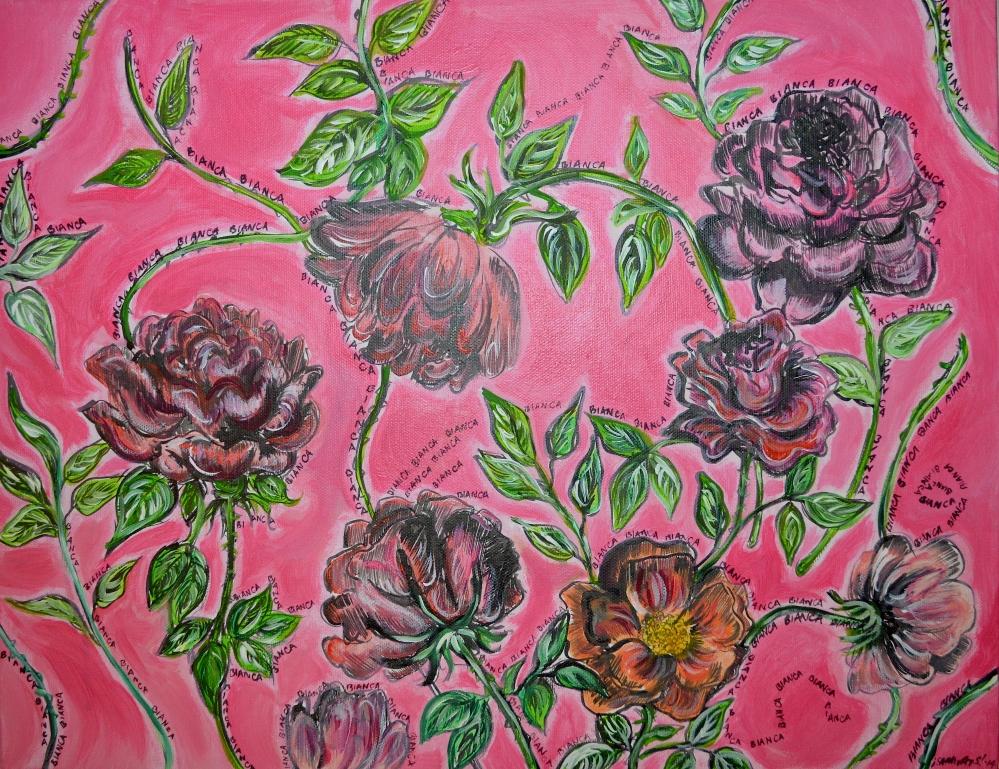 Roses for Bianca by Sarah Samways, 2014.