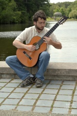 7/30/2014. Tim Aznavourian plays classical guitar.
