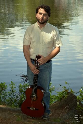 7/30/2014. Tim Aznavourian plays classical guitar.