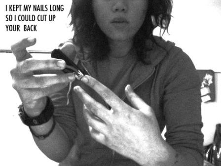 i kept my nails long