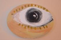 """Eye, Paxil"" acrylic on canvas (2019)"