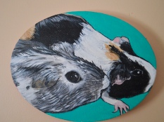 """""""Tony and Maisey, (teal)"""" acrylic on canvas (2019)"""