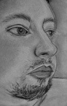 """RW, (close-up)"" detail / charcoal on paper (2019)"