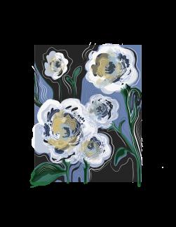 """Melting Jazzy Flowers"" digital illustration (2018)"