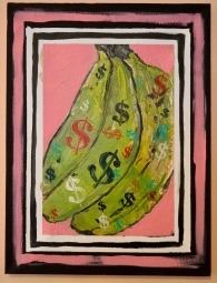 """""""My Banana is Green with Envy"""" (2019) acrylic on canvas"""